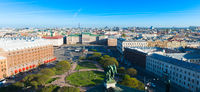 Panorama Of St Petersburg From  Above