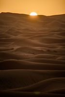Sunrise over the dunes, Morocco, Sahara Desert