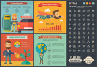 Ecology flat design Infographic Template