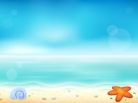 Beach theme image 1 - picture illustration.