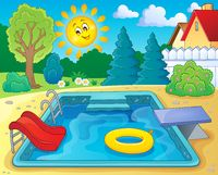Pool theme image 2 - picture illustration.