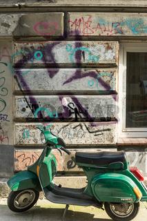 Motorroller im Schanzenviertel, Hamburg