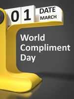 Vintage Calendar World Compliment Day