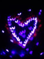 Heart bokeh background, Valentine's day