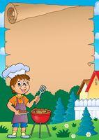 Barbeque theme parchment 1 - picture illustration.