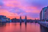 Sunset at Oberbaum Bridge