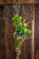 Decoration with meadow flowers