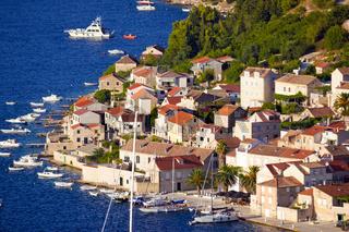 Idyllic coastal village of Vis island