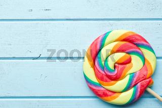 colorful swirl lollipop
