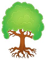 Tree with roots theme image 1 - picture illustration.