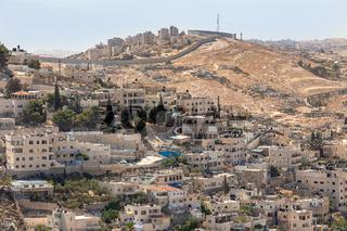 Silwan neighborhood in Jerusalem, Israel.