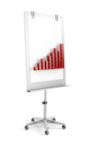 Flip chart with bar chart