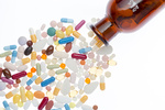 Different pills and shtanglass