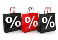 3 Shopping Bags Percents