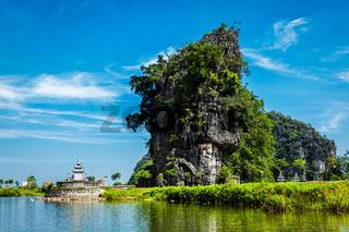 Tam Coc tourist destination in Vietnam