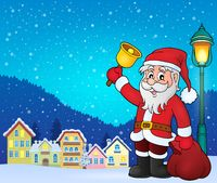 Santa Claus with bell theme image 3 - picture illustration.