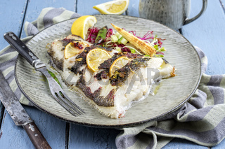 roasted halibut