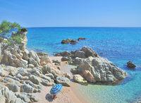 idyllic Beach at Costa Brava near Tossa de Mar,Catalonia,Spain