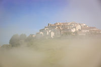 Castelluccio in morning fog, Piano Grande, Umbria, Italy