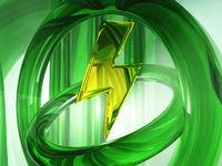 blitz-symbol - 3d illustration