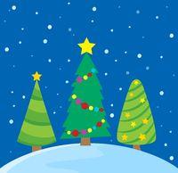 Stylized Christmas trees theme image 1 - picture illustration.