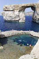 Azur Windwow and Blue Hole,  Zerka Tor, Gozo, Malt