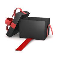 Opened Black Gift Box