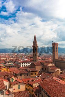 Ausblick auf Florenz Kirche