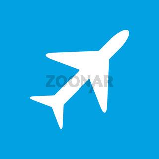 Plane white icon