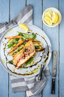 Salmon Filet with Vegetable