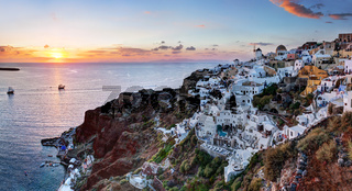 Oia town on Santorini island