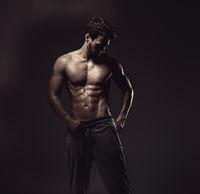 Athletic handsome man, studio shot