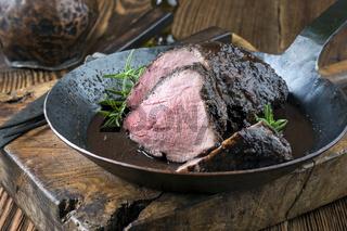 Wild Boar Roast in Pan
