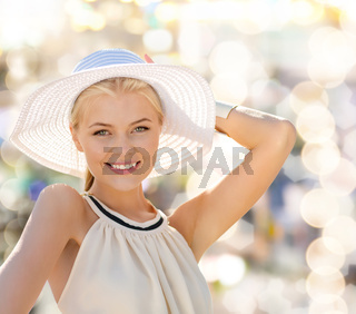 beautiful woman enjoying summer outdoors