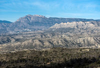Mountain range in Alicante. Costa Blanca, Valencia. Spain