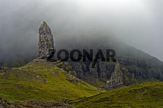 Felsspitze Der alte Mann von Storr, The Old Man of Storr, Isle of Skye, Schottland, Grossbritannien