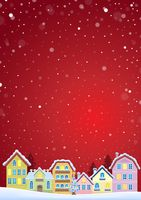 Winter theme with Christmas town image 4 - picture illustration.