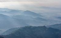 Pokhara region aerial view