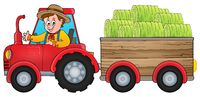 Tractor theme image 1 - picture illustration.