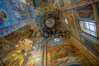 Interior of Savior on the Spilled Blood Cathedral in St. Petersburg
