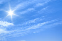 blue sky and sun background