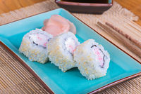 California maki sushi with crab meat