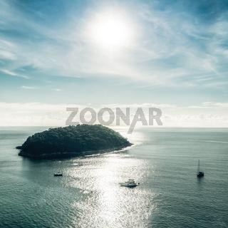 Tropical ocean landscape with Koh Kaeo island.Thailand