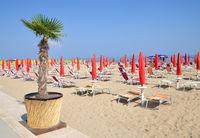 Beach of Lido di Jesolo,adriatic Sea,Italy