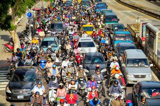 Commuters in Taipei - Taiwan