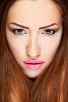 Make up on brunette woman
