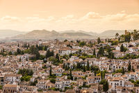 City of Granada at a summer day, Spain