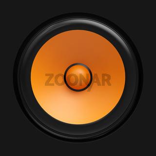 Big orange speaker