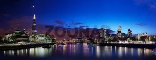 London skyline panorama at night