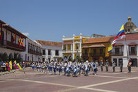 Parade at colombian Independance Day in Cartagena de Indias
